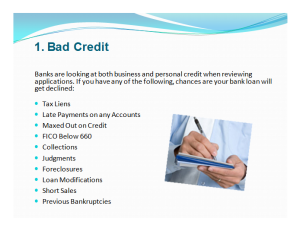 bad credit business loans