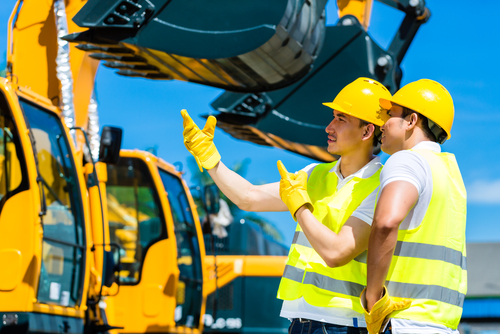 construction worker getting heavy equipment financing for any industry