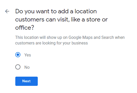 step 8 add location customers can't visit