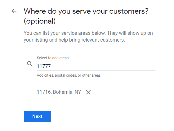 step 12 where do you serve your customers