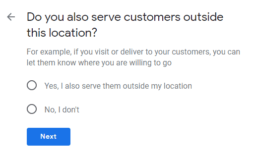 do you also serve customers outside your location